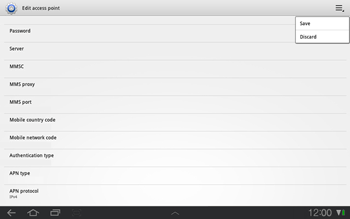 Samsung P7500 Galaxy Tab 10-1 - MMS - Manual configuration - Step 9