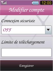 Samsung S7070 Diva - E-mail - Configuration manuelle - Étape 12
