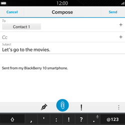 BlackBerry Passport - Email - Sending an email message - Step 11