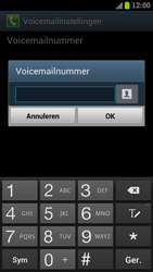 Samsung I9300 Galaxy S III - Voicemail - Handmatig instellen - Stap 6