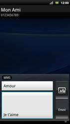 Sony Ericsson Xperia Arc S - Mms - Envoi d