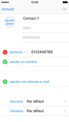 Apple iPhone SE - Contact, Appels, SMS/MMS - Ajouter un contact - Étape 11
