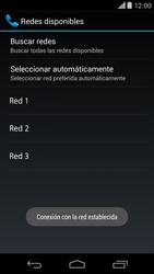 Motorola Moto X (2ª Gen) - Red - Seleccionar una red - Paso 10