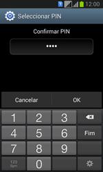 Samsung Galaxy Fresh Duos - Segurança - Como ativar o código de bloqueio do ecrã -  10