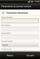 HTC A320e Desire C - E-mail - Configuration manuelle - Étape 12