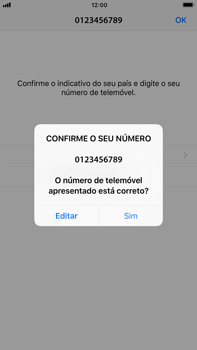 Apple iPhone 6s Plus - iOS 11 - Aplicações - Como configurar o WhatsApp -  10