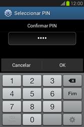 Samsung Galaxy Fame - Segurança - Como ativar o código de bloqueio do ecrã -  10