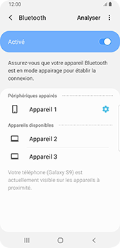 Samsung Galaxy S9 Android Pie - Bluetooth - connexion Bluetooth - Étape 11
