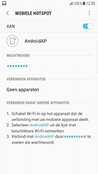 Samsung Galaxy S6 - Android Nougat - WiFi - Mobiele hotspot instellen - Stap 12