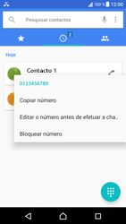Sony Xperia XZ - Android Nougat - Chamadas - Como bloquear chamadas de um número -  5