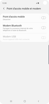 Samsung Galaxy S10 - Internet - comment configurer un point d'accès mobile - Étape 6
