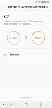 Samsung Galaxy S8 - Android Oreo (SM-G950F) - Contacten en data - Contacten kopiëren van SIM naar toestel - Stap 11