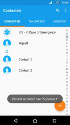 Sony E5603 Xperia M5 - Contactgegevens overzetten - delen via Bluetooth - Stap 11