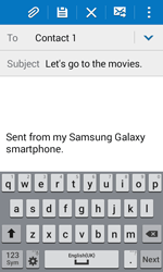 Samsung G318H Galaxy Trend 2 Lite - E-mail - Sending emails - Step 9