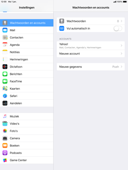 Apple iPad Mini 3 - iOS 12 - E-mail - e-mail instellen (yahoo) - Stap 9