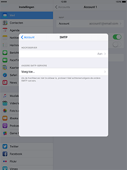Apple iPad Mini 3 iOS 10 - E-mail - Handmatig instellen - Stap 21