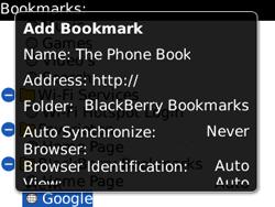 BlackBerry 8520 Curve - Internet - Internet browsing - Step 9