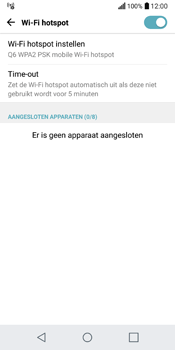 LG Q6 (LG M700n) - WiFi - Mobiele hotspot instellen - Stap 10