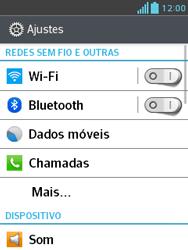 LG E430 Optimus L3 II - Wi-Fi - Como configurar uma rede wi fi - Etapa 4