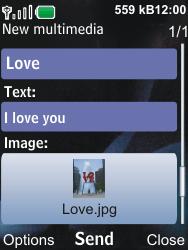Nokia 6600i slide - MMS - Sending pictures - Step 14