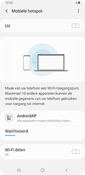 Samsung Galaxy S9 Plus - Android Pie - Internet - mijn data verbinding delen - Stap 12
