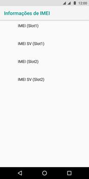 Motorola Moto E5 - Primeiros passos - Como encontrar o número de IMEI do seu aparelho - Etapa 8