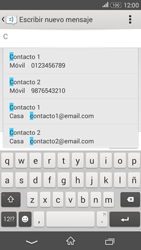 Sony Xperia E4g - Mensajería - Escribir y enviar un mensaje multimedia - Paso 6