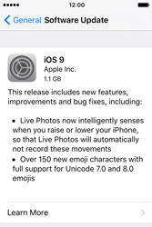 Apple iPhone 4 S iOS 9 - Network - Installing software updates - Step 7