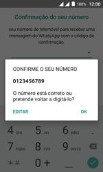 """Alcatel Pixi 4 (4"""") - Aplicações - Como configurar o WhatsApp -  10"""