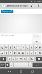 Sony Xperia E4g - Mensajería - Escribir y enviar un mensaje multimedia - Paso 7