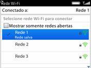 BlackBerry 9620 - Wi-Fi - Como configurar uma rede wi fi - Etapa 9