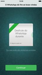 Apple iPhone 6 iOS 9 - Aplicações - Como configurar o WhatsApp -  13
