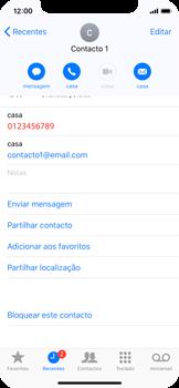 Apple iPhone X - Chamadas - Como bloquear chamadas de um número -  5
