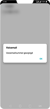 LG g7-fit-dual-sim-lm-q850emw - Voicemail - Handmatig instellen - Stap 10