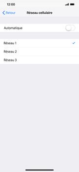 Apple iPhone XS Max - Réseau - Sélection manuelle du réseau - Étape 8