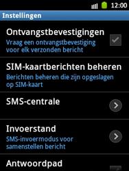 Samsung S5300 Galaxy Pocket - SMS - Handmatig instellen - Stap 4