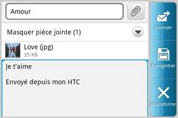 HTC A810e ChaCha - E-mail - envoyer un e-mail - Étape 10