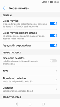 Huawei Mate 9 - Red - Seleccionar el tipo de red - Paso 7