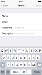 Apple iPhone 5s - iOS 8 - Email - 032b. Email wizard - Yahoo - Step 7