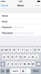Apple iPhone 5s - iOS 8 - E-mail - Manual configuration (yahoo) - Step 7
