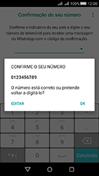 Huawei Y5 II - Aplicações - Como configurar o WhatsApp -  7