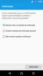 Sony Xperia Z3 Plus - Segurança - Como ativar o código de bloqueio do ecrã -  11