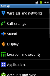 Samsung S5690 Galaxy Xcover - Internet - Enable or disable - Step 4