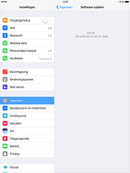Apple iPad Air 2 iOS 10 - Toestel - Software update - Stap 6