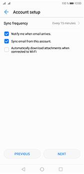 Huawei P20 Pro - E-mail - Manual configuration IMAP without SMTP verification - Step 16