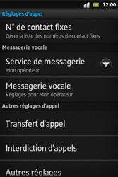 Sony ST27i Xperia Go - Messagerie vocale - configuration manuelle - Étape 6