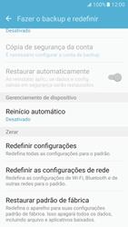 Samsung Galaxy S7 - Funções básicas - Como restaurar as configurações originais do seu aparelho - Etapa 6