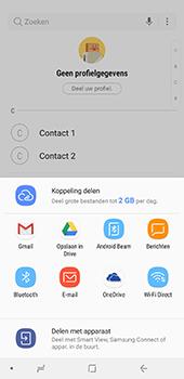 Samsung Galaxy A8 Plus - Contactgegevens overzetten - delen via Bluetooth - Stap 9