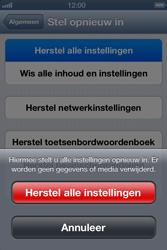 Apple iPhone 4S met iOS 6 (Model A1387) - Instellingen aanpassen - Fabrieksinstellingen terugzetten - Stap 6