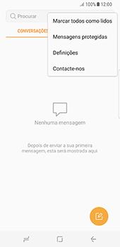 Samsung Galaxy S8 - SMS - Como configurar o centro de mensagens -  5